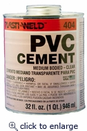 Med Body Cement Clear 1/2 PT