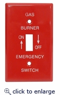 Emergency Metal Switch Plates 1 Gang Gas