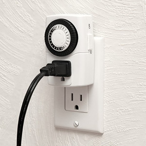 Mini Mechanical Timer 24 Hour Single 3 Prong Outlet Onoff Switch