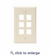 Quickport 1 Gang 6 Port Wall Plate Leviton