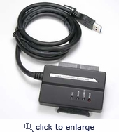 USB3.0 to SATA II + IDE Adapter, 4Ft Cable