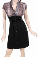 Black Dress with Exotic Top