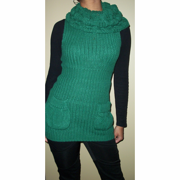 Criss Cross Green Sweater