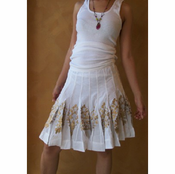 Gold and White Skirt
