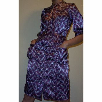 Purple Paisley Dress