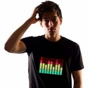 click to see more pictures of T-Qualizer - Sound Activated T-Shirt