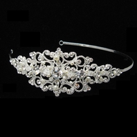 Abby - Royal Collection - Vintage pearl crystal side accent headband - SALE