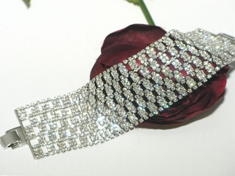 Adore - NEW!! Breathtaking Swarovski wide wedding bracelet - SPECIAL