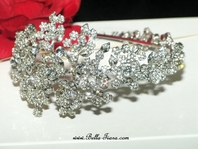 Alanza - Royal Collection Designer Swarovski crystal side headband - SALE