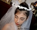 Alessia - Beautiful communion hair wreath, communion headpiece and veil - SPECIAL one left