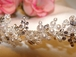 Alessia - Crystal Pearl Clusters Tiara Band