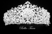 Alexandra - Royal collection dramatic Swarovski crystal crown tiara
