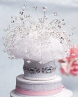 Alluring Swarovski Crystal Spray wedding cake topper - SALE