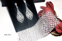 Althea - Stunning swarovski crystal earrings and bracelet set - SALE