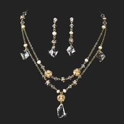 Amazing gold plated crystal necklace set - SALE!!