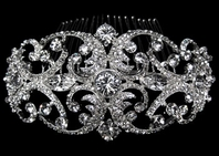 Amazing royal collection Swarovski crystal hair comb - SALE