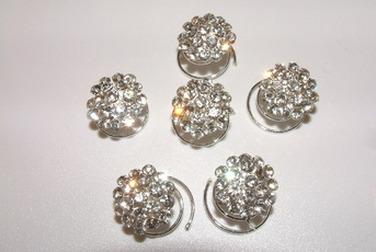 Amber - Stunning Crystal Cluster Hair Twist-in's - (set of 6) - SPECIAL!!