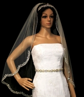 Royal Collection - New royal crystal beaded edge veil - SPECIAL
