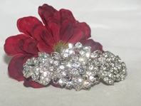 Angela - Beautiful Vintage floral vine Hair Barrette - SALE