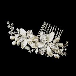 Angela - NEW ivory pearl bridal hair comb -CLEARANCE ome left