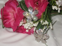 Angela - Swarovski Crystal Bridal Hair Pins (set of 2) - SALE!!