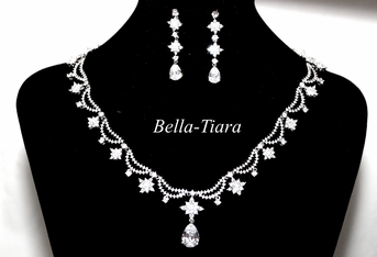 Angelina - Romantic High end CZ wedding jewelry set - ONE LEFT
