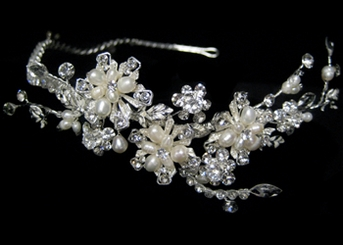 Angelique - BEAUTIFUL freshwater pearl crystal headband - SALE