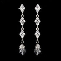 Angie - Elegant crystal drop Bridal Earrings - CLEARANCE - ne left