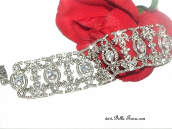 Anna- STUNNING CZ (Cubic Zirconia) Bridal Bracelet -- SPECIAL SALE!! BACK IN STOCK