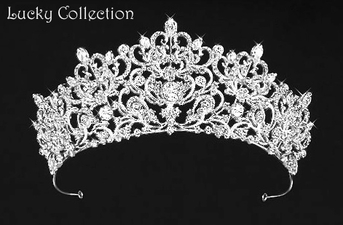 Annalisa stunning royal crystal wedding tiara