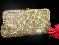 Annamaria - Gorgeous gold Swarovski crystal evening purse - SALE