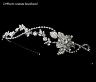 Antica - Gorgeous antique silver floral vine headband - SPECIAL