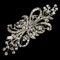 Antique silver bridal brooch pin