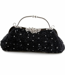 Antique style Black Beaded Evening Purse - BACK IN STOCK! won't last