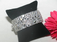 ARELI - NEW!! ASTONISHING CZ cuff style bridal bracelet - SALE