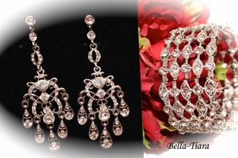 Aria- - Beautiful chandelier earrings and bracelet set - SPECIAL one left