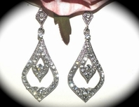Ariana-Beautiful Vintage inspired bridal Earrings - SALE