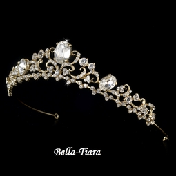 Ariana - Sparkling Gold Wedding Tiara