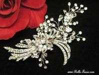 Arianna -NEW vintage swirls swarovski crystal hair accessory - SPECIAL