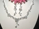 Arlene - Beautiful floral Cubic Zirconia Bridal necklace set - SALE!!