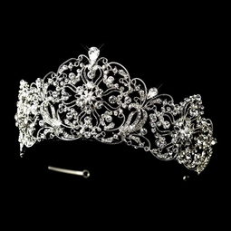 Aruba - Princess dazzling wedding crown tiara - Special - ONE LEFT