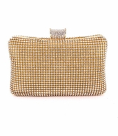 Ava - Dazzling gold rhinestone crystal evening clutch purse - SPECIAL one left