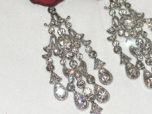 - Beata - Antique Victorian Crystal Chandelier Earrings - SPECIAL