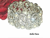 Beata - Gorgeous handmade cz with ivory pearl wedding bracelet - SALE