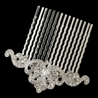 BEAUTIFUL antique silver vintage hair comb - SPECIAL