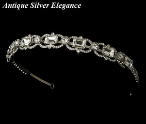BEAUTIFUL-- Antique vintage silver bridal headband-SALE!