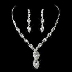 Beautiful Austrian Crystal Necklace and Earring Set - SALE!!