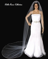 Beautiful  Swarovski rhinestone Edge Cathedral Veil or Regal length- SPECIAL