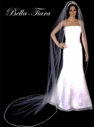 Dazzle Collection -  Beautiful Regal lenght beaded Cathedral Veil