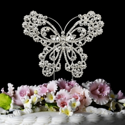 Beautiful Crystal Butterfly cake topper - SALE